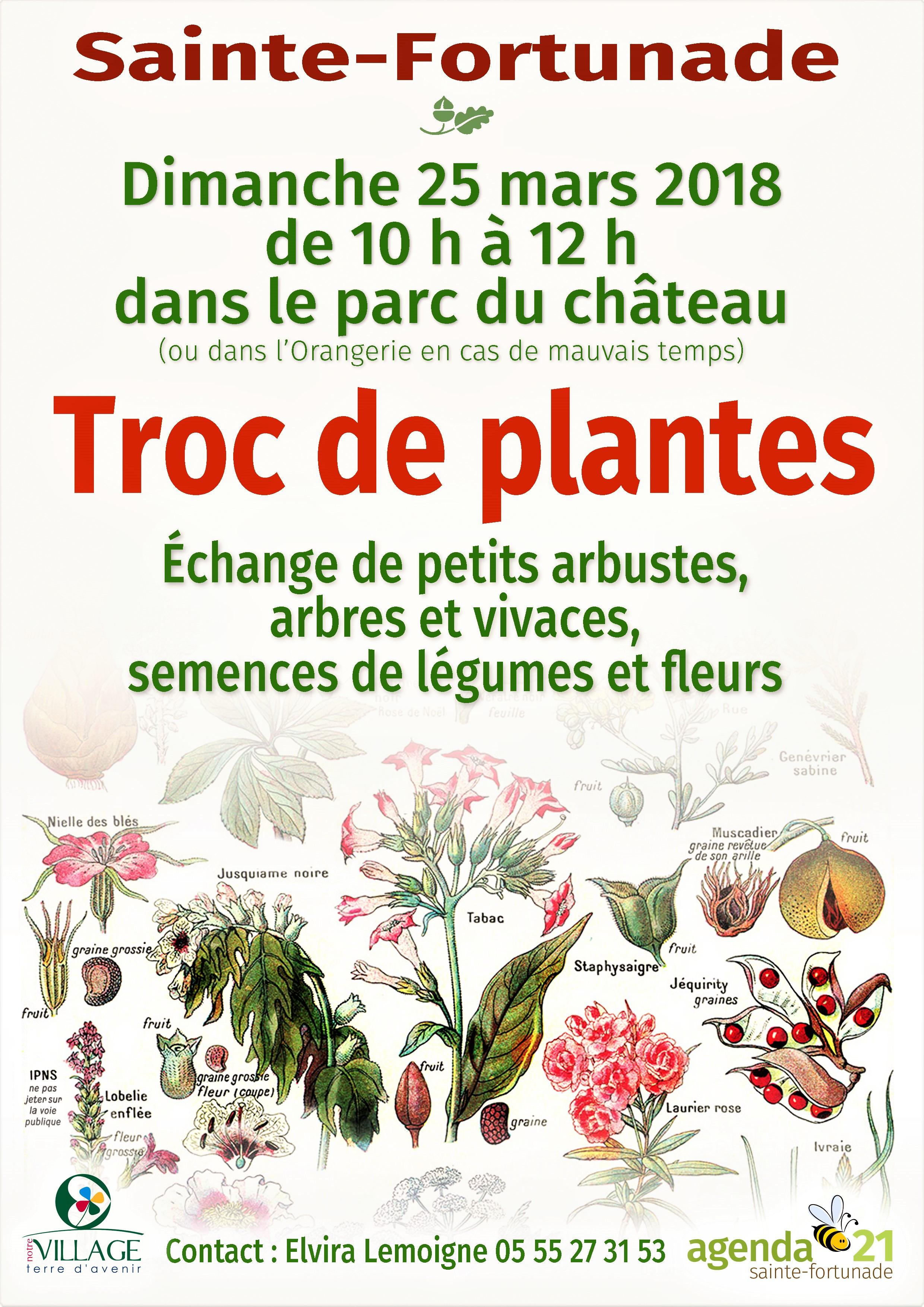 Sainte-Fortunade: Troc de plantes @ Sainte-Fortunade